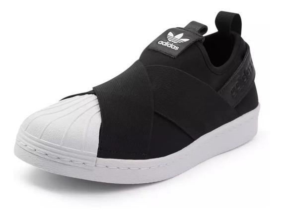 Tênis adidas Slip On Superstar Feminino Bordado Original