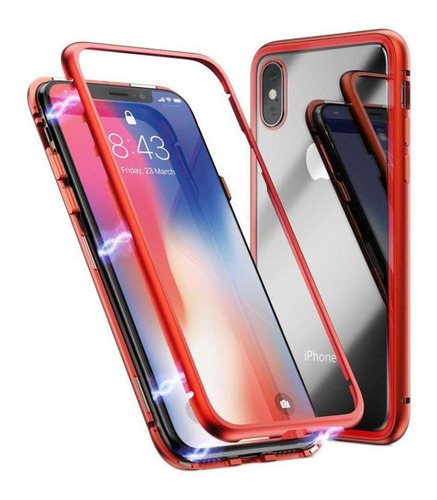 Case Bumper Magnetico iPhone 6 7 8 Plus Xr Xs Max Protector