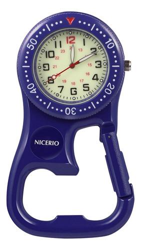 Imagen 1 de 8 de Nicerio Luminoso Fob Reloj Mochilero Clip Mosquetón Watc