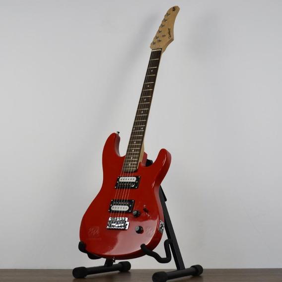 Guitarra Super Strato Waldman Vermelha Ideal Para Iniciantes