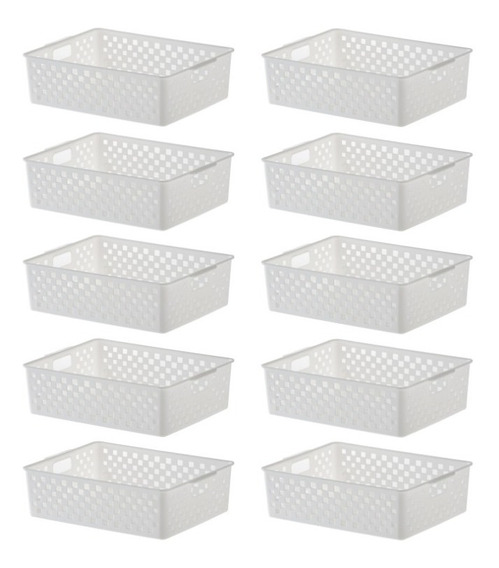 10 Cesto Organizador Multifuncional Quadratta 27x21x8cm 891
