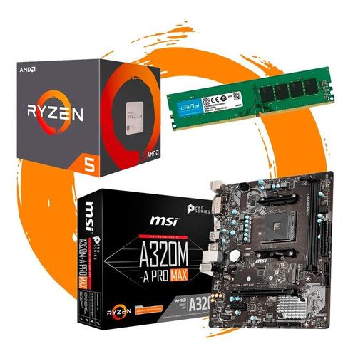 Combo Actualizacion Pc   Amd Ryzen 5 2600 + A320 + 8gb