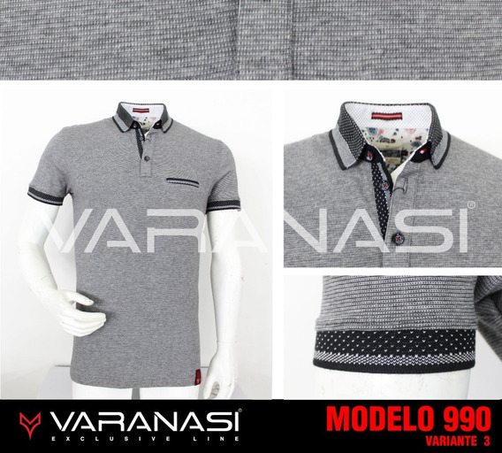 Playera Hombre Tipo Polo 990 Slim Fit Moda Varanasi