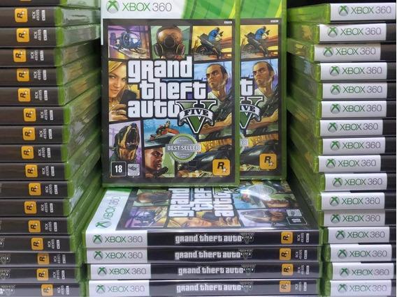 Jogo Gta V Gta5 Xbox 360 Mídia Física Lacrado