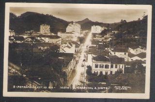 Foto Postal Colombo 8 - Petrópolis Vista Parcial A Noite.