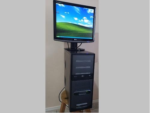 Imagem 1 de 4 de Computador Pc Com Monitor LG 17
