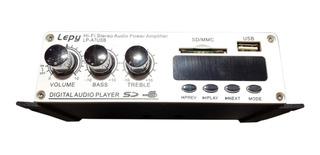 Amplificador Potencia 12v 30w Rms Radio Usb Bluetooth