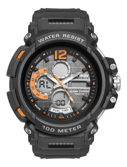 Relógio Masculino Mormaii Moad1101aa/8l 50mm Borracha Preto