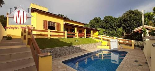 Linda Chácara Com 3 Dormitórios, Piscina, Pomar, Ótimo Padrão De Construção, À Venda, 1000 M² Por R$ 495.000 - Zona Rural - Pinhalzinho/sp - Ch0813
