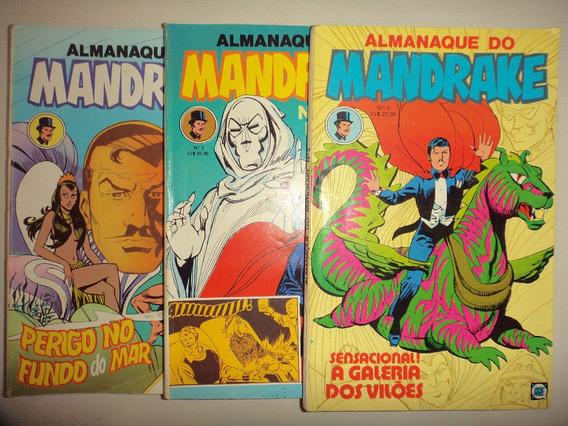 Lote Almanaque Mandrake 2 3 4 Editora Rge 1980 Excelentes
