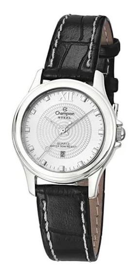 Relógio Champion Feminino Pulseira De Couro Ca29831q