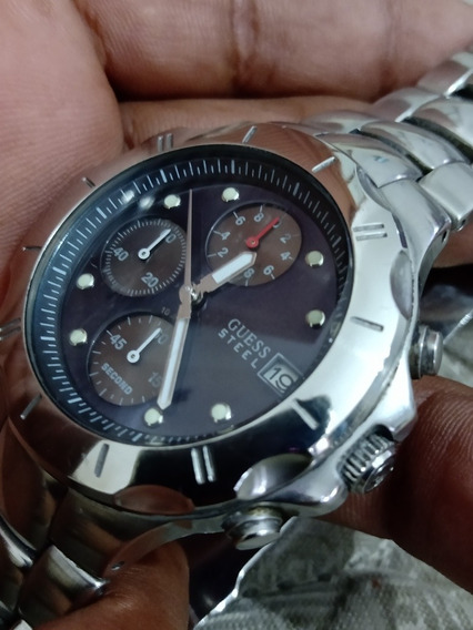 Relógio Guess Italiano Lindo = Omega Seiko Tissot Orient Iwc