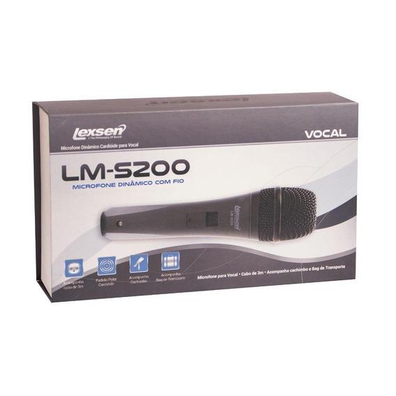 Microfone Com Fio Lexsen Lm-s200 Com Cabo E Bag Premium