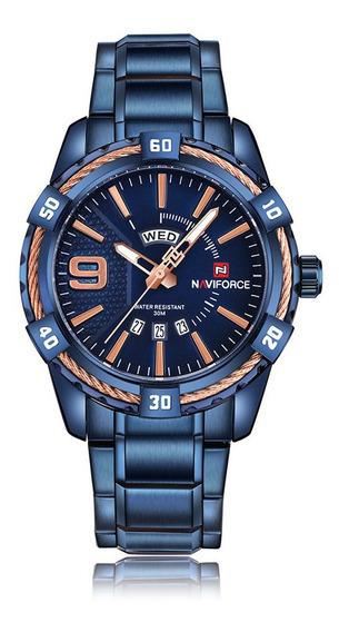 Relógio Masculino Naviforce 9117 Esportivo Lançamento