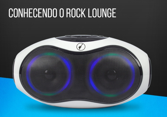 Caixa Som Rock In Rio Radio Fm Bluetooth Boombox Entrada Sd