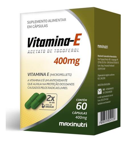 Imagem 1 de 2 de Vitamina E 400mg Com 60 Cápsulas Maxinutri