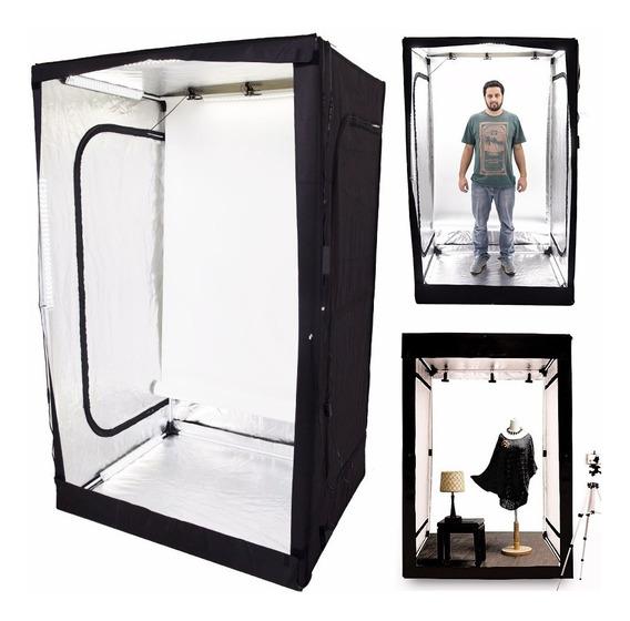 Tenda Cabine Fotográfica Portátil Com Led 120x100x200