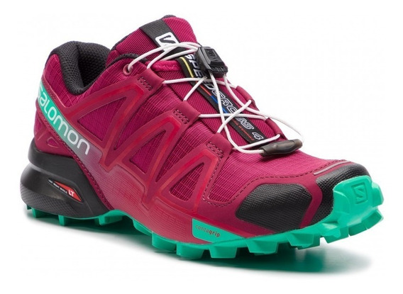 Zapatilla Salomon Trail Running Mujer Speedcross 4 Bordo Ras