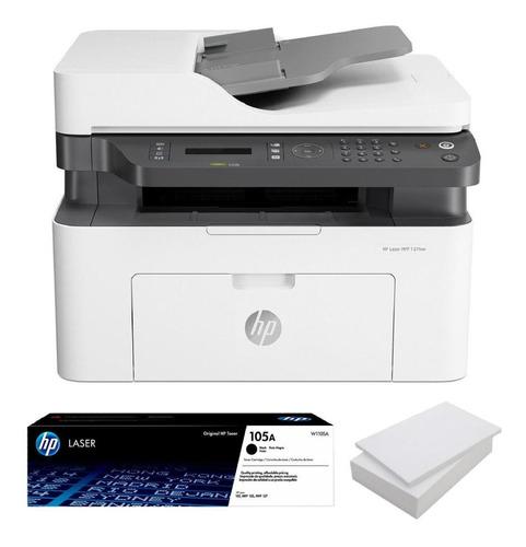Impresora Hp M137fnw + Toner 105a + Resma