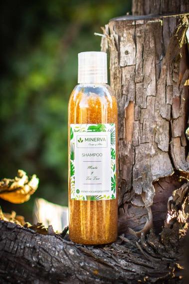 Shampoo Orgánico Natural Menta Y Tea Tree