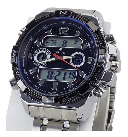 Relógio Masculino Prata A Prova D Água Original +garantia Nf
