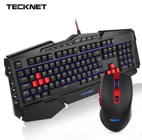 Combo Teclado E Mouse Gamer Tecknet Led Iluminado Ergonômic
