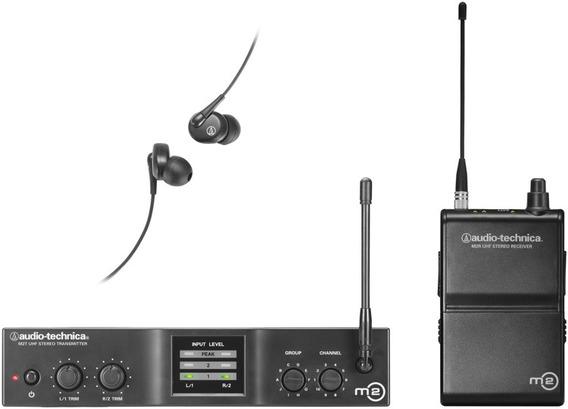 Audio Technica M2m Sistema Monitoramento Sem Fio In Ear