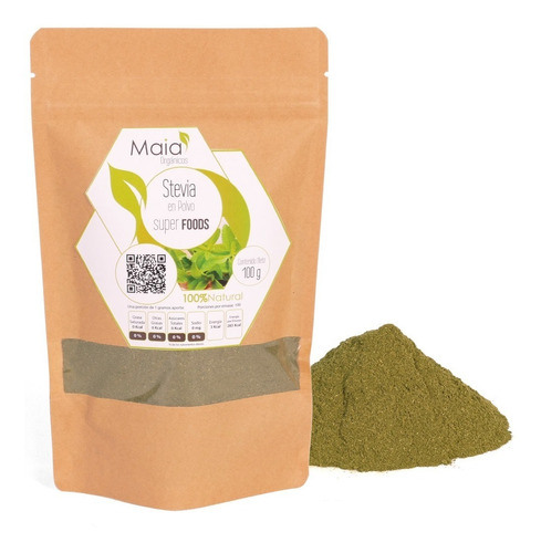 Imagen 1 de 4 de Stevia En Polvo - Orgánico 100 Gramos