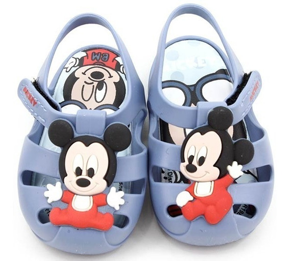 Sandália Bebe Ipanema Mickey Disney 21932 Azul Loja Pixolé