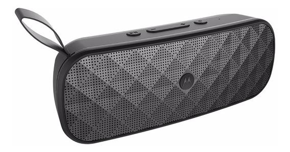 Caixa De Som Portátil Motorola Sp001 Bk Bluetooth - Preto