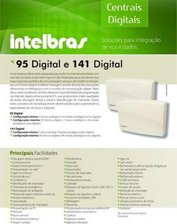 Central Telefônica Pabx 141 Basica Digital Intelbras