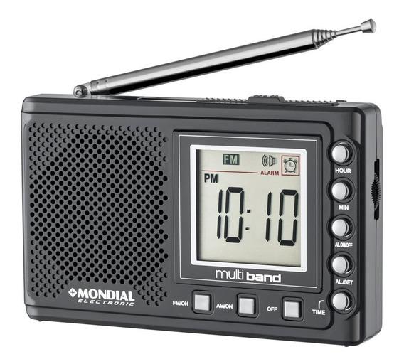 Rádio Portátil Mondial Multi Band 2 Rp-04 Preto - 3v Dc