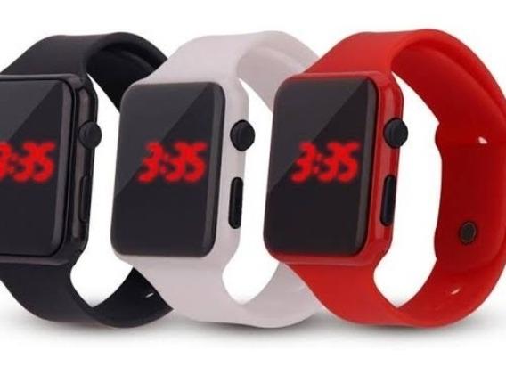 Relógio Digital Vermelho Escuro