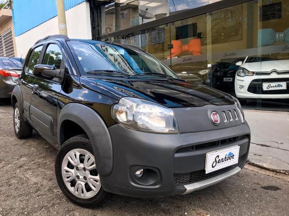 Fiat Uno Way 1.0 Completo 4p Preta - 2014