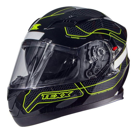Capacete Moto Texx G2 Panther Com Dupla Viseira Interna