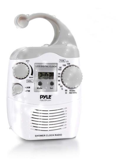 Pyle Home Psr6 Impermeable Ducha Radio Reloj