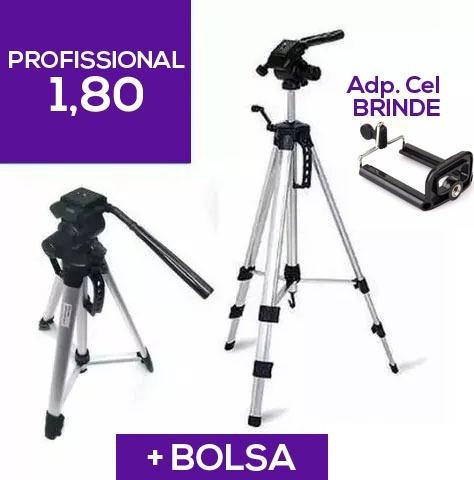 Tripé 1,80m P/ Câmera Canon T2 T3 T4 T5 T6