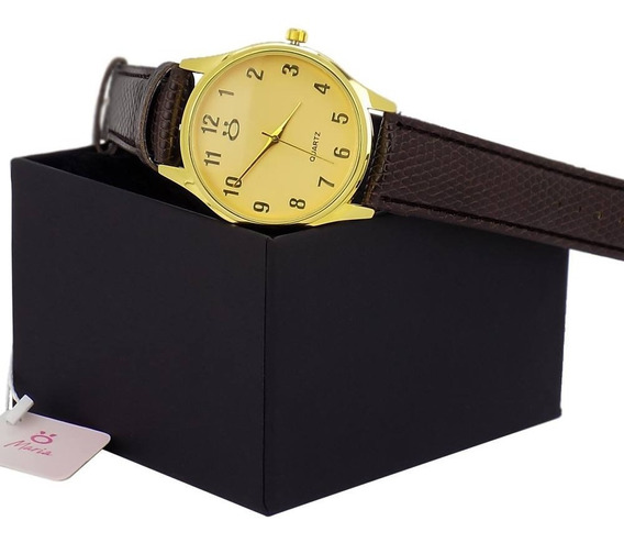 Relógio Orizom Maria Orinal + Colar E Brinco Com Nota Fiscal