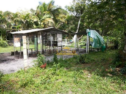 Chácara Com 1 Dormitório À Venda, 1000 M² Por R$ 65.000,00 - Chácaras Lucél - Itanhaém/sp - Ch0049