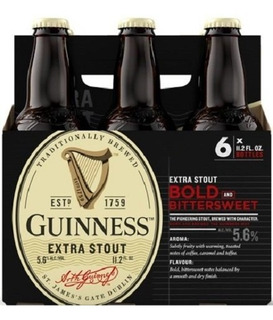 Cerveza Guinness Extra Stout 6 Pack 331 Ml/ 11.2 Oz Tercio23