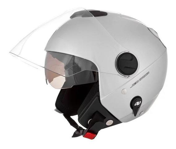Capacete para moto aberto Pro Tork New Atomic Solid branco-fosco tamanho 60