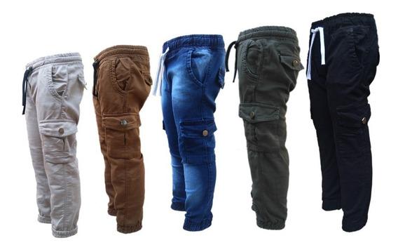 Pantalon Cargo Gabardina Niños