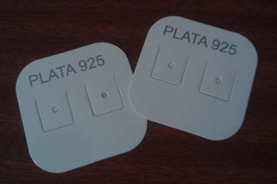 Carton Para Aros Fino X 200 Unidades Plata 925 N°3 +cuotas