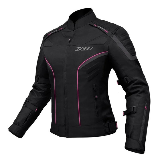Jaqueta Moto Feminina X11 Com Proteção Motociclista