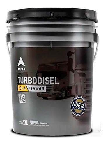 Lubricante Motor Diesel Turbodisel 15w40 Aceite Ancap 20 Lts