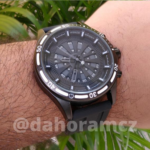 Relógio Social Analógico Preto - Weide Wh7308 - Silicone