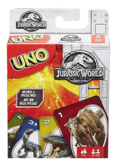 Cartas Uno Dinosaurios Jurassic World Mattel