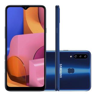 Celular Samsung Galaxy A20s Azul 3gb 32gb 3 Cameras Tela 6.5