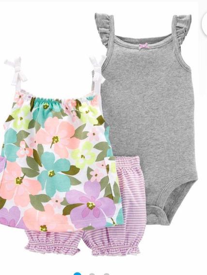 Conjunto Carters Florido Shorts 18m Verão