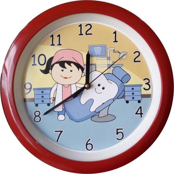 Reloj De Pared Dentista Y Sillón
